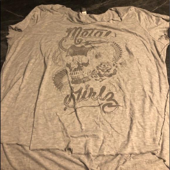 Torrid metal girls grey shirt